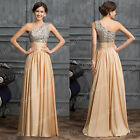 2015 Beaded Long Bridesmaid Prom Wedding Party Formal Evening Dress Gowns Plus +