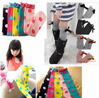New Kids Toddlers Girls Soft Knee High School Socks 2-8Y Leggings Stripe
