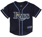 Majestic MLB Baseball Kids Tampa Bay Rays Alternate Replica Jersey - Navy Blue