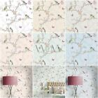 Holden Decor Phoebe Birds Wallpaper In Soft Teal, Dove Grey, White Or Cream