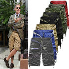 New Men's Summer Surf Shorts Bermuda Casual Baggy Cargo Shorts Pants 8 Color