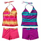 Girls Swimsuits Swimwear Tops+Pants Tankini Sets 6-16Y Beachwear Bathing Bikini