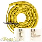 Lava Super Coil Guitar Cable | 35ft (10.6m) Curly Lead | Yellow Various Plugs