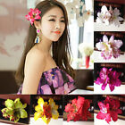 Womens Girls Bridal Wedding Orchid Flower Hair Clip Barrette Brooch