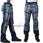 TRUE PEVIANI BAR G JEANS,  HIP HOP URBAN TIME IS MONEY MENS STAR DENIM BLAST
