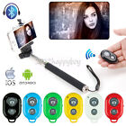 HOT Handheld Bluetooth Shutter Extendable Selfie Stick Monopod iPhone Samsung