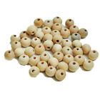 Functional Round Wood Bead Rondelle Spacer Wooden Natural Unfinished Handmad MO