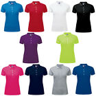 New Women's Russell Stretch Polo Slim Fit With Contrast Button Placket Size 8-18