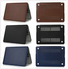 "Leather Skin Hard Protective Shell Cover Case For Macbook Pro 13.3""/15.4"" Retina"
