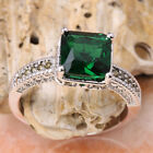 Charismatic Green Emerald GEMSTONES Silver Jewelry Ring Size6 /7 /8 /9 T7029