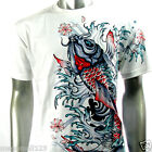 RC Survivor T-Shirt M L XL XXL 3XL Koi Fish Japanese Biker Retro Tattoo WB53 D2