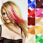 "Hair Extension 20"" Neon Clip In Long Fake Synthetic Rainbow Highlight Cosplay"