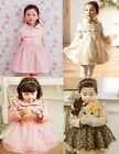 Girls Kids Lace Trench Coat Wind Jacket 2-7Y Tulle Autumn Party Outwear Clothing