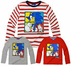 Boys Sonic The Hedgehog Cartoon Long Sleeved T Shirt Kids Tops New Age 3-8 Years