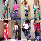 Vintage Women's Floral Printed Casual Summer Palazzo Loose Pants Long Trousers