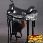 "DF202BK HILASON DRAFT HORSE WESTERN TRAIL ENDURANCE SADDLE 16"" 17"" 18"""