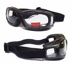 NEW- FLIGHT Over The Glasses [OTG] Motorcycle Biker Goggles |Clear+Tinted Lenses