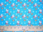 HELLO KITTY  #7 Fabrics,  Sold Individually,  Not As a Group,  By The Half Yard