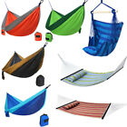 Double Hammock Hanging Rope Chair Lounger Porch Swing Seat Steel Frame Stand Set
