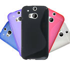 5 Colour Protective Soft Rubber Gel Mobile Phone Back Case Cover For HTC One M8