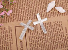4 pcs Golden/Silver/Black Crystal Cross Connectors For jewelry Making Bracelet