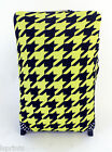 DOGTOOTH PRINT BLACK & YELLOW DESIGN SUITCASE COVER EASILY IDENTIFY YOUR CASE