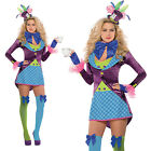 Womens Mad Hatter Costume Ladies New Alice In Wonderland Fancy Dress Outfit