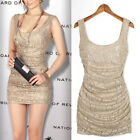 Sexy Lady Lace Crochet Slim Sleeveless Bodycon Party Cocktail Evening Club Dress