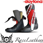 DAYTONA SECURITY EVO III 3 RED 2 PIECE RACE TRACK SPEC MOTORCYCLE BOOTS