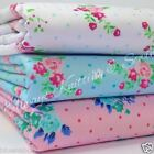 per Mtr Emily Blue pink or White polycotton fabric 112cm wide craft dress fabric
