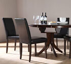 Dark Hudson & City Extending Dark Wood Dining Table and 4 6 Chairs Set (Brown)