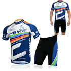 Cycling Bike Short Sleeve Clothing Bicycle Sportwear Suit Jersey+Shorts M-2XL BL