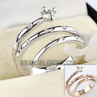 A1-R143 Fashion Snake Ring 18KGP CZ Rhinestone Crystal Size 5.5-9