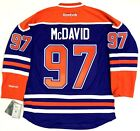 CONNOR MCDAVID EDMONTON OILERS REEBOK PREMIER HOME BLUE JERSEY NEW WITH TAGS
