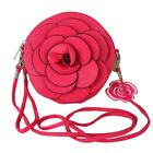 Camellia 3D Flower PU Leather Messenger bag Handbags Shoulder Epidemic TB