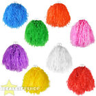 """POM POMS PAIR OF LARGE 10"""" COLOURED CHEERLEADER SHAKERS USA SPORTS DANCE SCHOOL"""