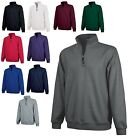 MEN'S MID-WEIGHT, 1/4 ZIP, CASUAL PULLOVER SWEATSHIRT, POCKETS S M L XL 2X 3X 4X