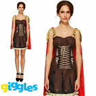 Roman Gladiator Costume Warrior Spartan Womens Ladies Sexy Fancy Dress Outfit
