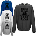 Training To Go Super Saiyan Sweatshirt - Dragon Ball Inspired Mens Jumper Top