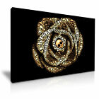 ROSE LOVE Skull Abstract Funky Canvas Wall Art Print ~ More Size