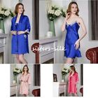 Women's 100% Pure Silk Chemise Babydoll Robes Bathrobes Gowns Sleepwear AS192