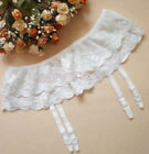 Vogue Ladies Sheer Lace Top Thigh-Highs Stockings  Garter Belt Suspender UKMW