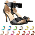 Womens Patent Leather High Heels Pump Strap Shoes Sandals Size 4 5 6 7 8 9 10 11