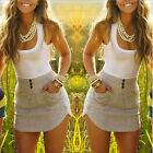 2015 Summer  Women Beach Sleeveless tops Party Evening Mini Dress Short Dress