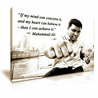 BOXING Muhammad Ali Sports Quote Canvas Wall Art Print ~ More Size