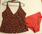 Barefoot Miss Swim Halter Top Liz Claiborne Panty Swimsuit Set NWT Size 12 or 14