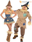 Adult Scarecrow Costume Mens Ladies Wizard Oz Fairytale Book Week Fancy Dress