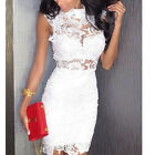 Sexy Women's Lace Mini Short Bridal Slim Evening Party Ball Cocktail Dress ST4