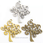 Lots 10Pcs Jewelry Tibetan Silver Pendants Metal Zinc Alloy Tree Shaped Pendants