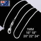 """Wholesale 925 Silver Filled 1MM Classic Snake Necklace Chain Bulk Price 16 - 24"""""""